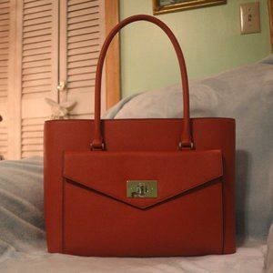 Kate Spade Orange Shopper Tote Bag